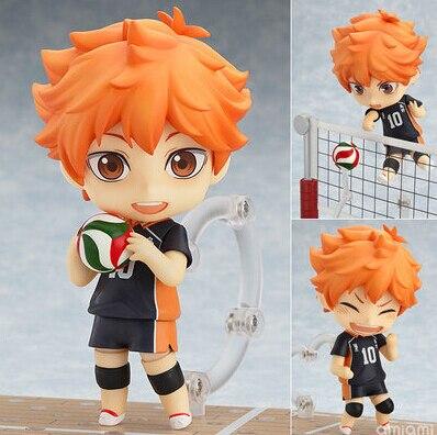 Haikyuu Action Figure 461# Hinata Syouyou Nendoroid 10CMM Haikyuu Nendoroid Hinata Syouyou Model Toy Doll Volleyball Figures anime haikyuu high school volleyball