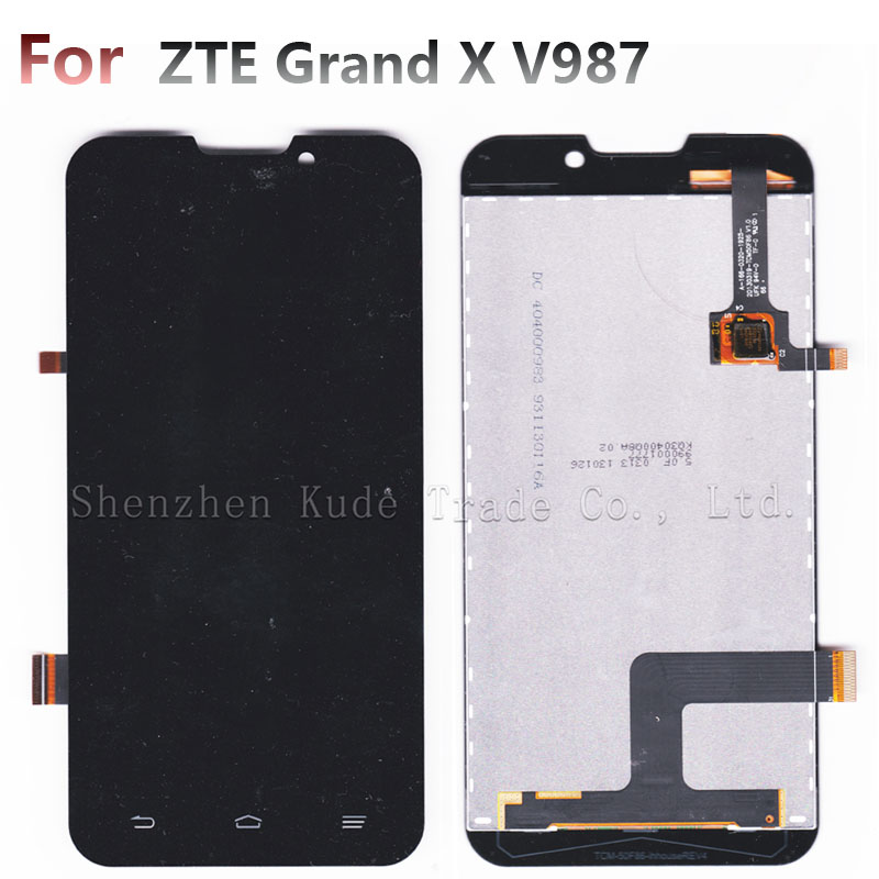 V987 Touch Screen Digitizer + LCD Display For ZTE Grand X ZTE V987 Quad