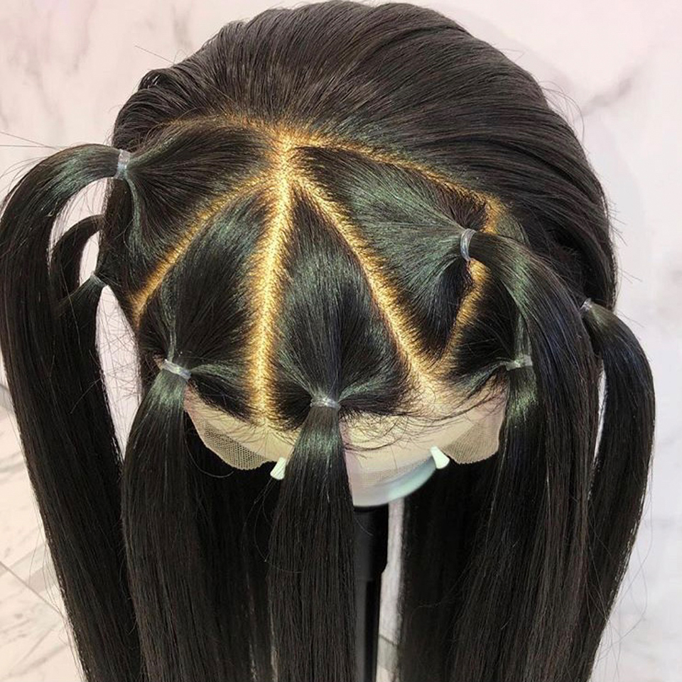 360 Lace Frontal Wig For Black Women Straight Brazilian Remy Natural Wig With Baby Hair Pre Plucked Lace Front Human Hair Wigs(China)