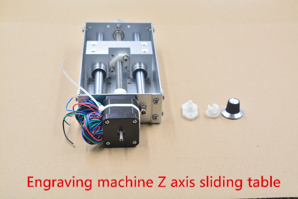 Engraving machine Z axis sliding table 140mm stroke CNC Z shaft workbench 1pcs cnc z axis slide table 60mm stroke diy milling linear motion 3 axis engraving machine new