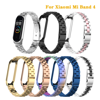 Metal Strap for Mi Band 4 Stainless Steel Wristband Bracelet for Xiaomi Mi Band 4 Watch Band Pulseira for Miband 4 Accessories