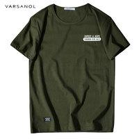 Varsonal Brand Man S T Shirt Solid Men S T Shirts 2018 Summer Cotton Breathable O