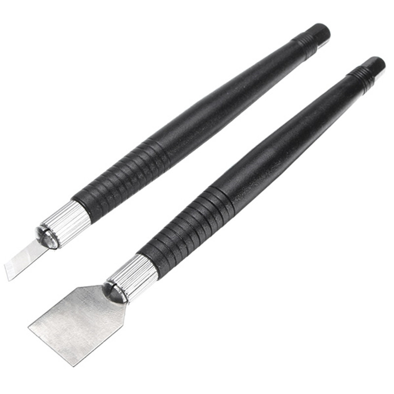 Tin Scraper 2pcs/Set Solder Paste Scraping Knife Set For PCB BGA Repair Rework Durable Cleaning Tool