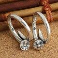 S925 Серебряное Кольцо ретро Тайский серебряные ювелирные изделия Корейских мужчин и женщин моды ногтей крест шаблон открытие кольцо