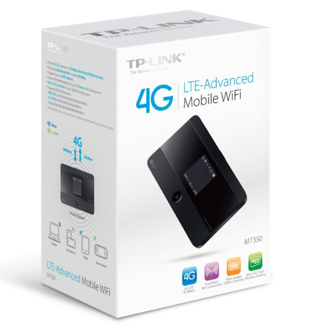 b5770f992f8 TP-LINK M7350 4G LTE Mobile WiFi Wireless Router / Hotspot Support To 15  Devices