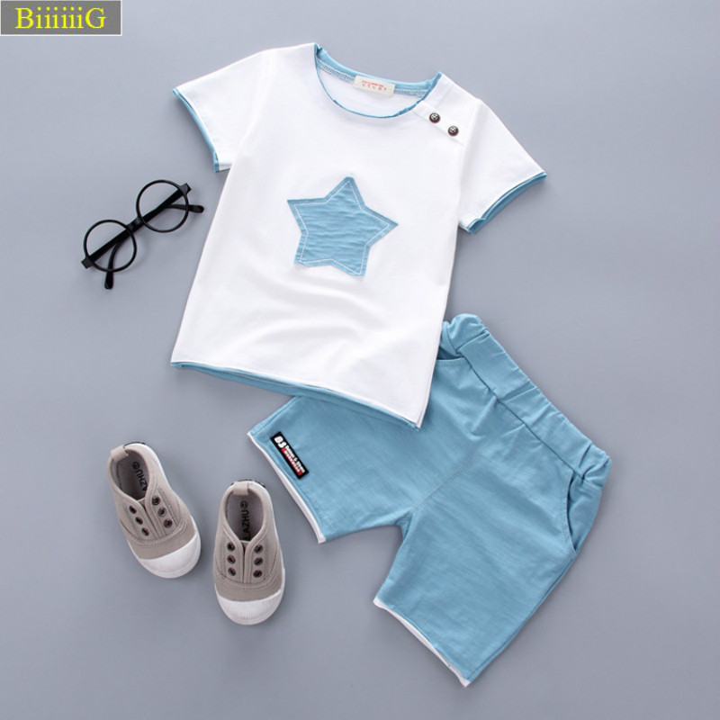 New Arrival 2018 Summer Fashion Boys Clothes Short Sleeve Pentagram Casual Toddler Boys  ...
