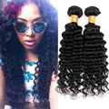 Peruvian Deep Wave Hair Cheap Peruvian Virgin Hair 4 Bundle Deals #1B Human Hair Weave Bundles Peerless Virgin Hair Company