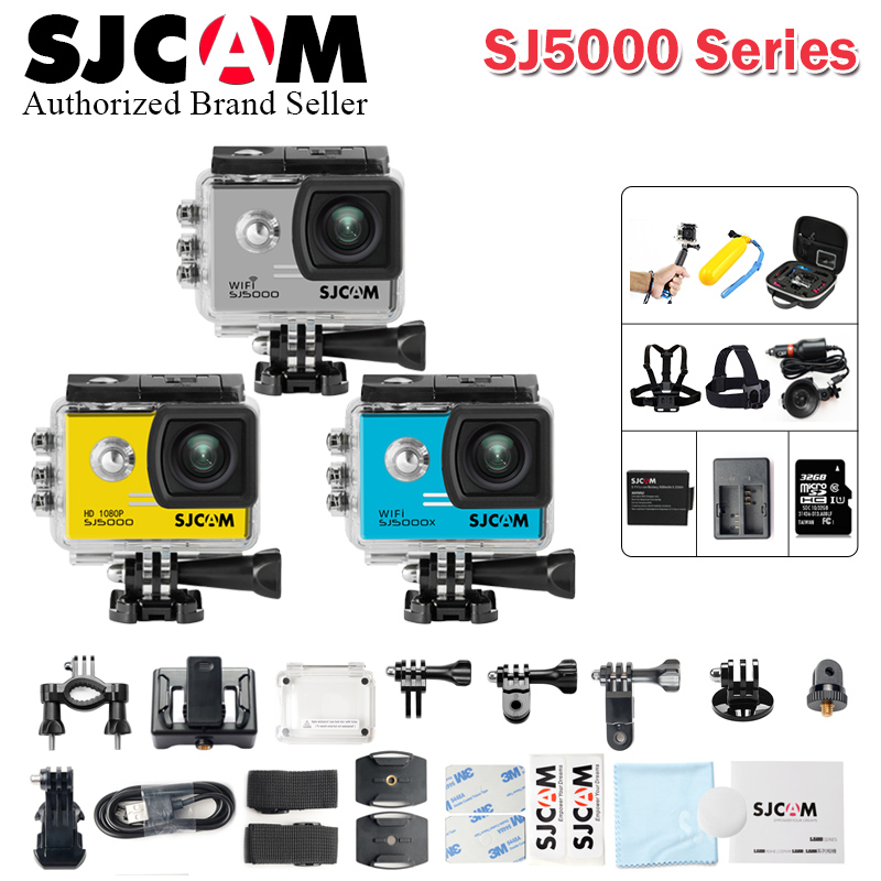 Original SJCAM SJ5000 Series SJ5000 & SJ5000 WiFi Novatek96655 & SJ5000X Elite 4K Gyro Sport Action Camera WiFi NTK96660 SJ CAM 2 0 4k sjcam sj5000 series sj5000x elite wifi ntk96660 mini gyro 30 waterproof sports action camera sj cam dvr many accessories
