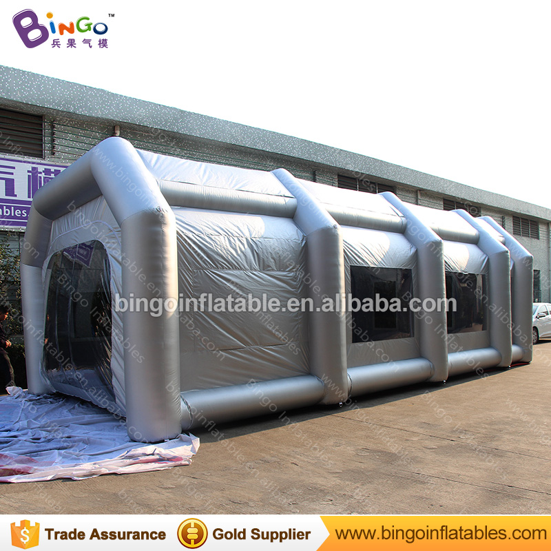 все цены на Free shipping 10X5X3.5 M large inflatable spray paint booth customized giant toy tent for car painting temporary work station онлайн