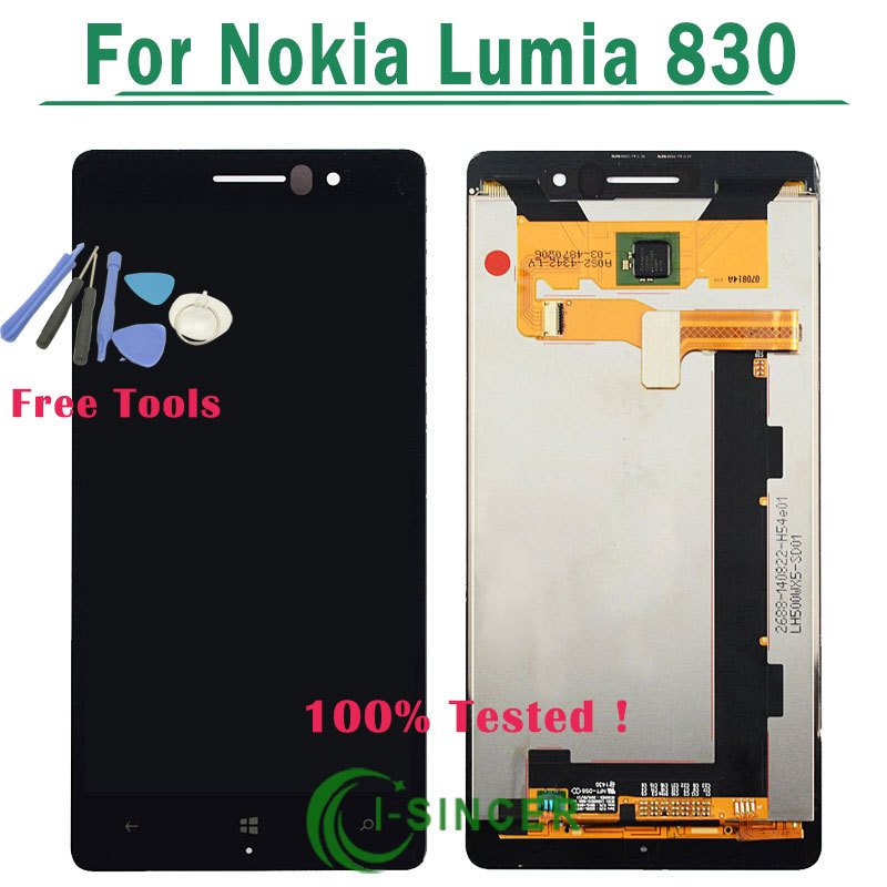 1/PCS LCD Screen For nokia lumia 830 With Touch display Digitizer Assembly +Tools Free Shipping