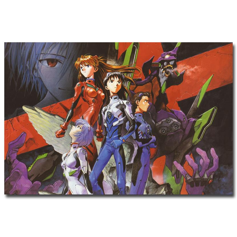 Anime Neon Genesis Evangelion Art Silk Poster 12x18 24x36