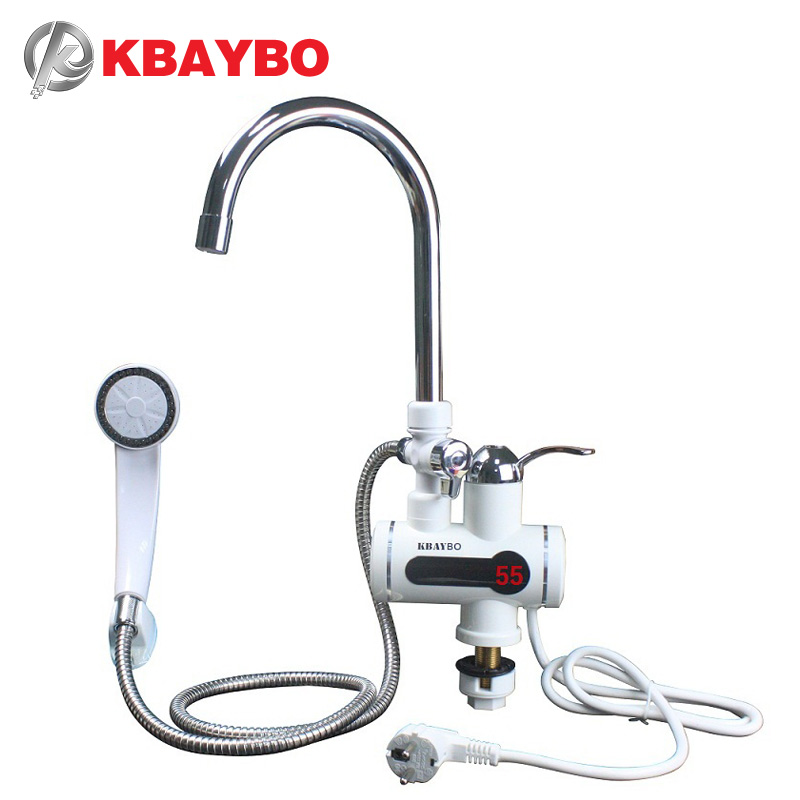 3000W Tankless Water Heater Shower Instant Water Water Heater Tap Kitchen Instant faucet 2 kinds of out mode ...