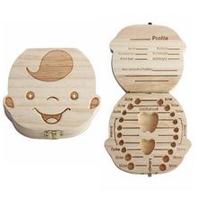 Creative Gift Wood Baby Girl Boy Tooth Organizer Boxes Save Deciduous Teeth Storage Keepsakes Collecting 10pcs dental clinic gift deciduous teeth bag primary teeth case the tooth fairy bag