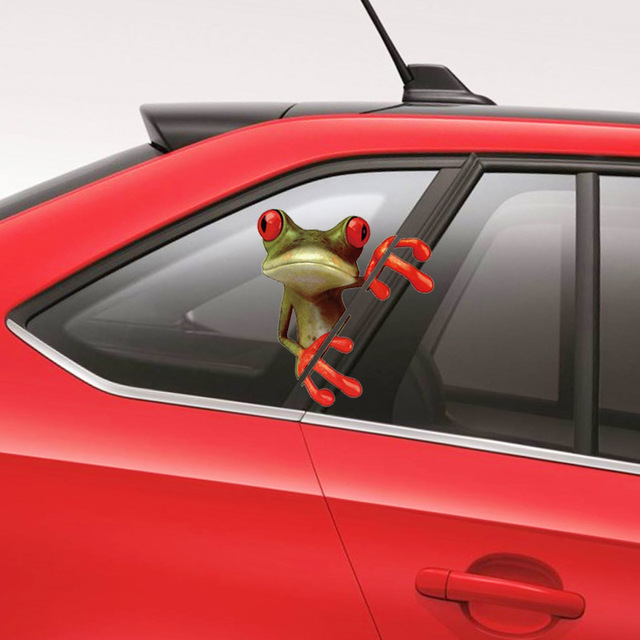 Car styling 3d frog logo mark car sticker pcv cartoon decals automobile stickers accessories