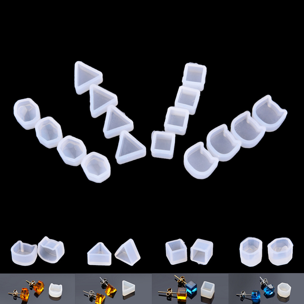 2pcs/set Assorted DIY Earrings Silicone Mold Jewelry Pendant Bracelet Resin Casting Mould For DIY Craft Making