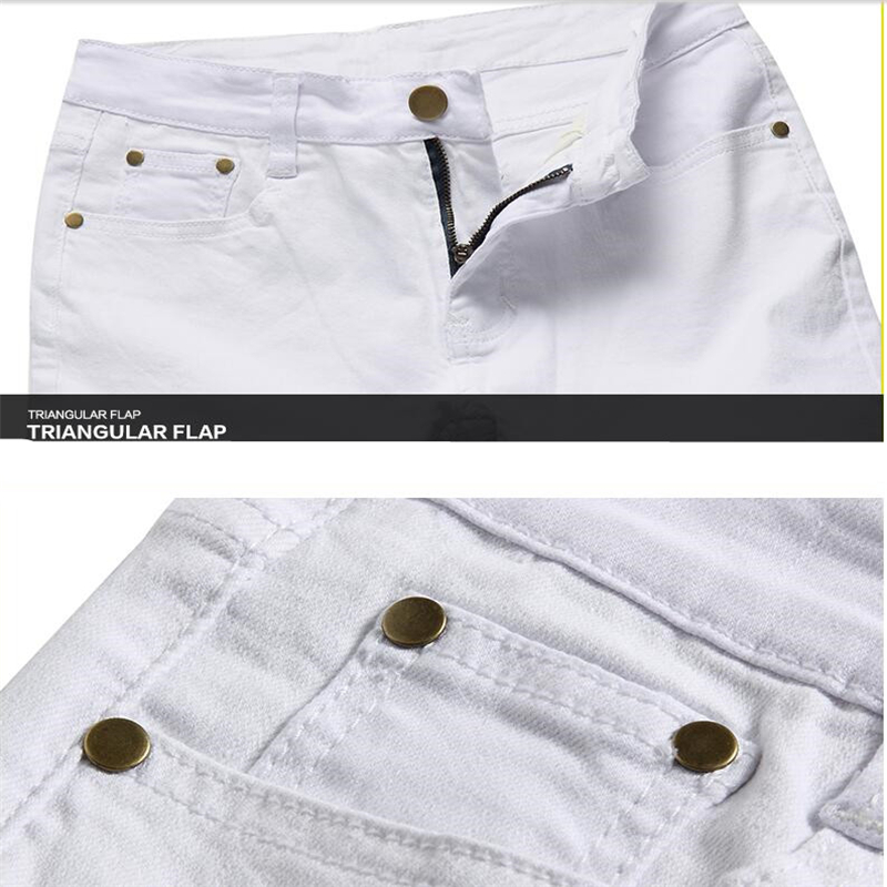 White Mens Jeans 2017 Fashion Business Casual Male Pants LEFT ROM Men Cowboy Pants Size 28-36 Simple Style Design Popular Trend