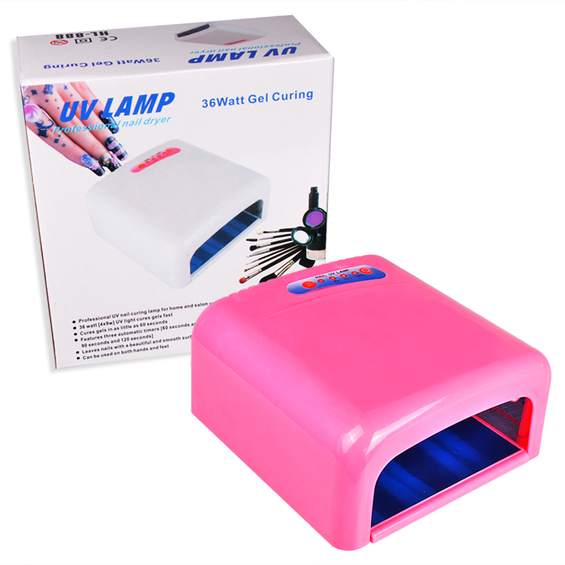 High Quality 36W UV Lamp 220V EU Plug Nail Lamp Professional Gel Nail Dryer Curing Light