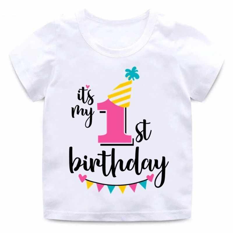 เด็กทารกเด็กหญิงวันเกิด T เสื้อฤดูร้อนเด็กของขวัญตลกเสื้อยืดขนาด 1 2 3 4 5 6 7 ปี tops Tees Tshirt เสื้อผ้าเด็ก