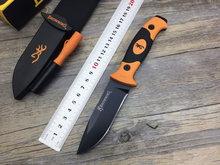 57HRC Hardness Browning 7Cr15MOV BROWNING Blade PP Handle Tactical Hunting Survival Fixed straight Knife outdoor Hand Tools