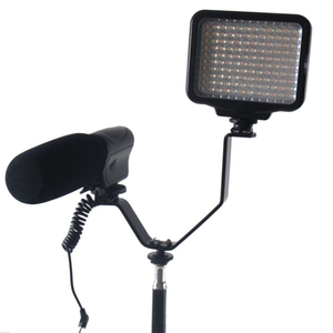 Image 2 - Dual Hot Shoe V Mount Bracket for Video Lights Microphones Monitors on Cameras and Camcorders 1PC