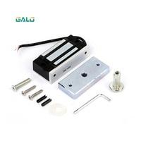GALO Einzelne Tür 12V elektromagnetisches Magnetschloss 60KG (100LB) Haltekraft für sterben Zugangskontrolle silber