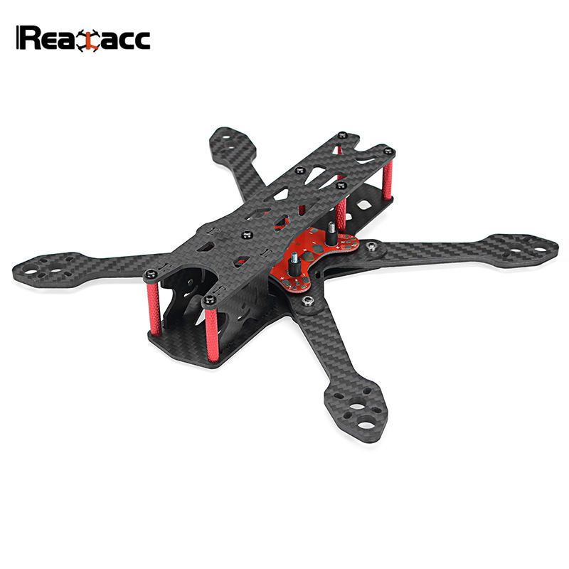 Realacc Real4 220mm Wheelbase 4mm Arm X Structure Frame Kit W/ PDB Board for RC Drone FPV Racing Quadcopter Spare Part niono trex8 6 220mm lite 4mm arm frame kit w 5 8g 200mw 600mw fpv vtx for rc drone fpv racing quadcopter multirotor helicopter