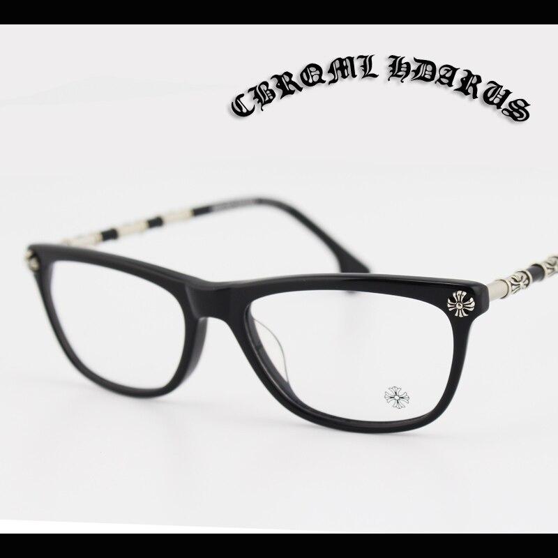 Hand Made Glasses Frame Women Vintage Silver Logo Fashion ...