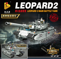 WW2 Military Leopard2 Main Battle Tank Building Blocks Sets Models Educational Toys For Kids Gifts Compatible With Legoed