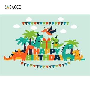 Image 2 - خلفيات تصوير Laeacco Jurassic Park Palms شجرة ديناصور بينانت خلفيات عيد ميلاد للأطفال حديثي الولادة فوتوزون ستوديو الصور