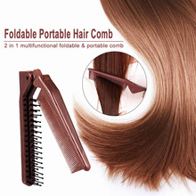 Foldable Hair Comb barber accessories Brush Anti-static Hairbrush Portable Travel  Plastic Folding Detangling Hairdressing Styli