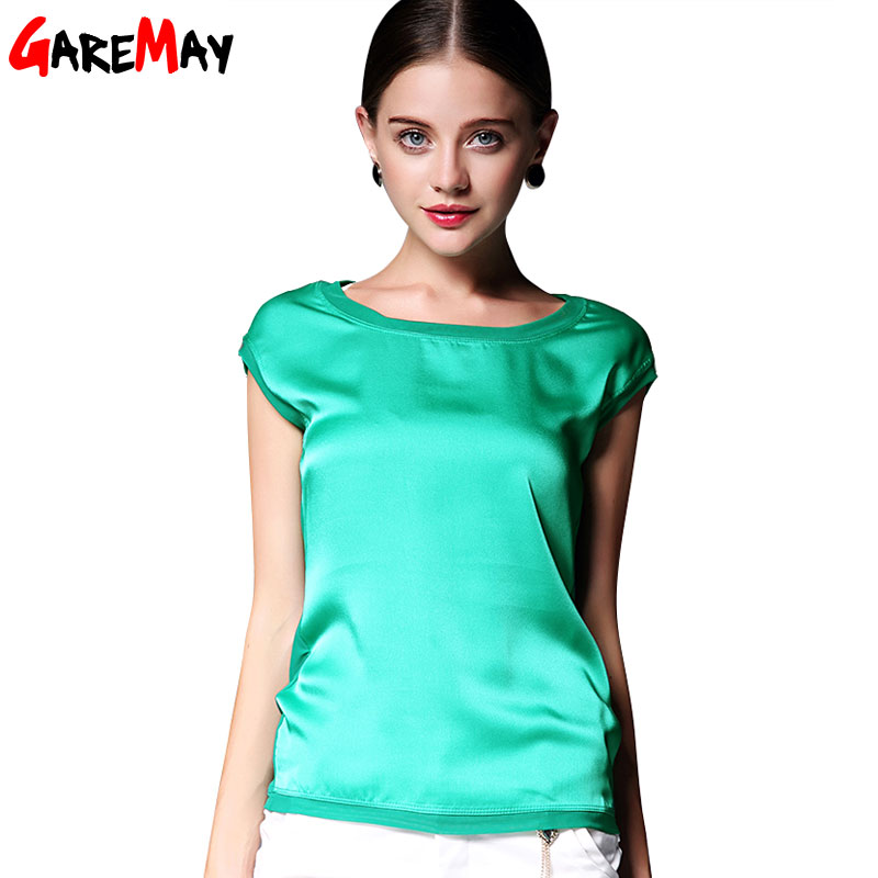 Excellent Pure Silk Blouse European Style Brand Long Sleeve Ladies Office Shirts