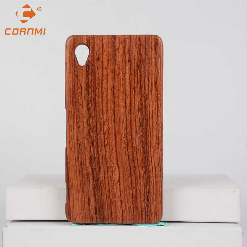 CORNMI For Sony Xperia Z1 Wooden Case Bamboo Wood Rose Wood Walunt Wood Back Cover Real Wooden 5.0 inch Shell