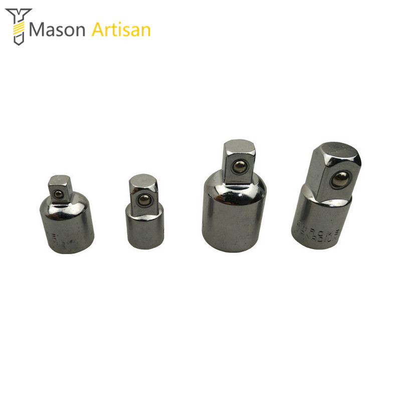 4Pcs/Lot Ratchet  Wrench Sockets Transform Joint 1/4 3/8 1/2 Socket Adapter Head Connector Kit Hand Tools Accessories 60pcs lot 8 pin dip square hole ic sockets adapter 8pin pitch 2 54mm connector