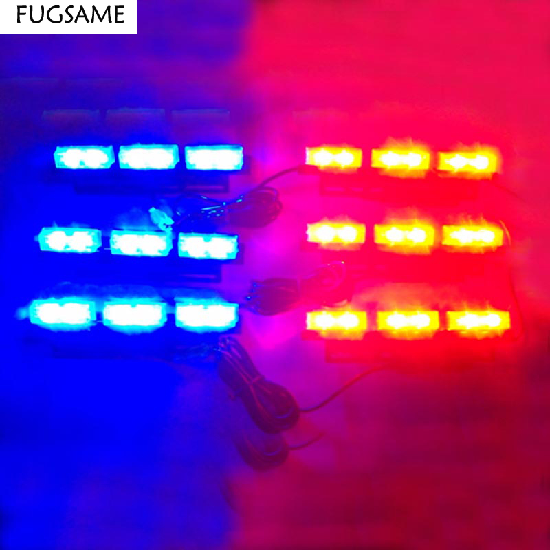 FUGSAME FREE SHIPPING Super Bright 6*6 LED Car Strobe Light High Power WHITE BLUE ld7530pl ld7530 sot23 6