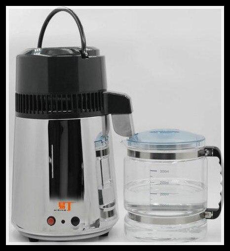 Полностью из нержавеющей стали бытовой дистиллятор для воды домашний Чистый фильтр для воды очиститель машина высокая термостойкость стек...