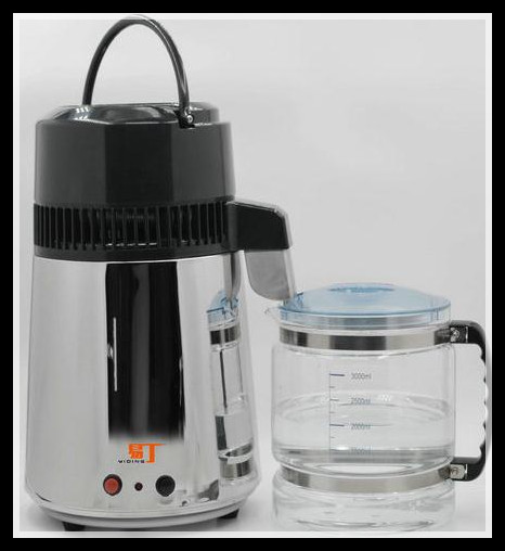 Full Stainless Steel Household Water Distiller Home Pure Water Filter Purifier machine High Temperature Resistant Glass