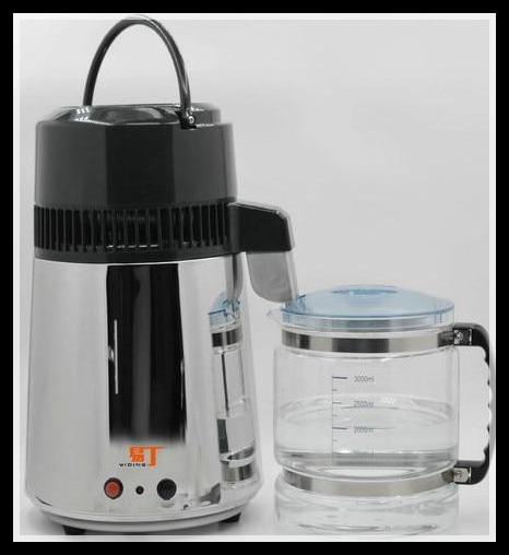 In Acciaio Inox pieno di Acqua Per Uso Domestico Distillatore Casa Pura Filtro Depuratore di Acqua macchina Ad Alta Temperatura del Vetro Resistente Secchio