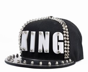 Image 5 - Casquette en acrylique, clous à rivets, KING, Punk, hip hop, Street, pour femmes et hommes