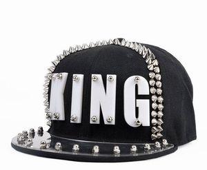 Image 5 - Płyta akrylowa Spike ćwieki nit KING czapka z daszkiem kobiety i mężczyźni uliczny punk Rock Hiphop czapki z daszkiem
