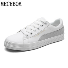 Men's leisure shoes new spring breathable lace-up white shoes men flat quality footwear size 39-44 c01m