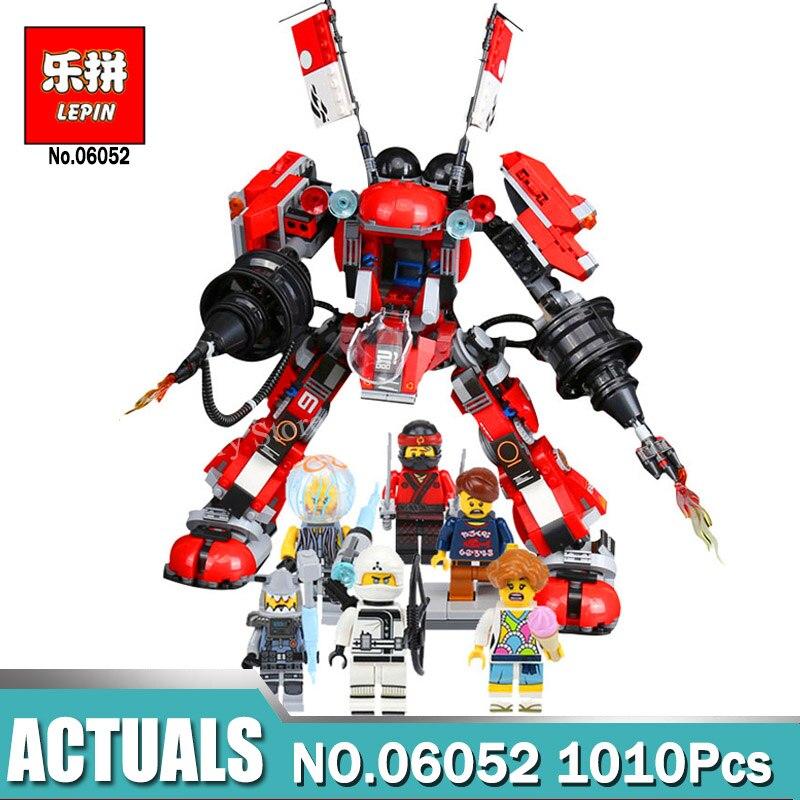 где купить LEPIN 06052 Ninja Kay's Mecha Building Bricks Ninja Series Toys For Children Compatible Legoinglys Ninjagoes Fire Mech 70615 по лучшей цене