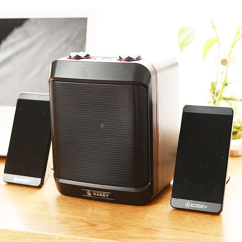 Купить с кэшбэком Surround Stereo Computer Speakers Home Theater Multimedia Combination Subwoofer USB Port 2.1 Laptop Desktop Loudspeaker