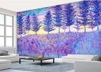 Romantic European style Purple lavender Wall paper Rolls Photo Wallpaper for Livingroom Mural Rolls Home Decal