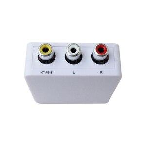 Image 3 - AV adapter converter mini AV to HDMI HD converter adapter converter audio video cable CVBS for HDTV with USB cable