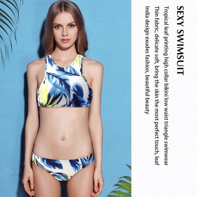 b71945fba3e7e Women Soft Charming Comfortable Sexy Padded Bandage Bikini Set Print  Swimwear Beach Bathing Suit Swimsuits drop