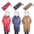 Waterproof Raincoat Women Dot Long Ladies Rain Coat Over Knee With Hood And Packing Pouch Pocket Poncho Length Coat Rainwear