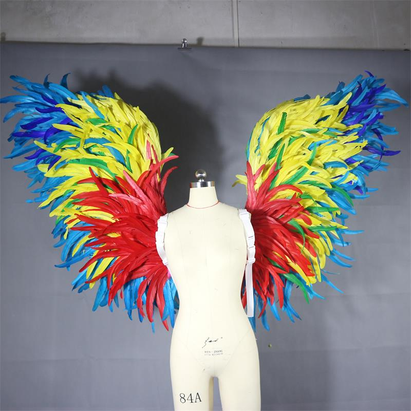 Festive party supplies masquerade costumes costumes oversized feathers colorful angel wings photo props