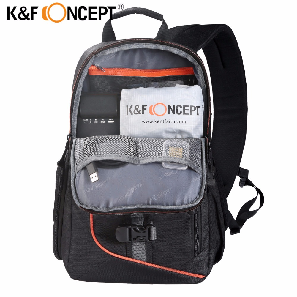 99bd5e8e03 K F CONCEPT Waterproof Camera Bag Professional Shoulder Sling Backpack Case  Tripod with Rain Cover For Canon Nikon DSLR Camera-in Camera Video Bags  from ...