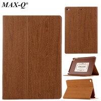Wood Grain Flip Ultra Thin Foldable Stand PU Leather Case Smart Cover For Apple Ipad Mini