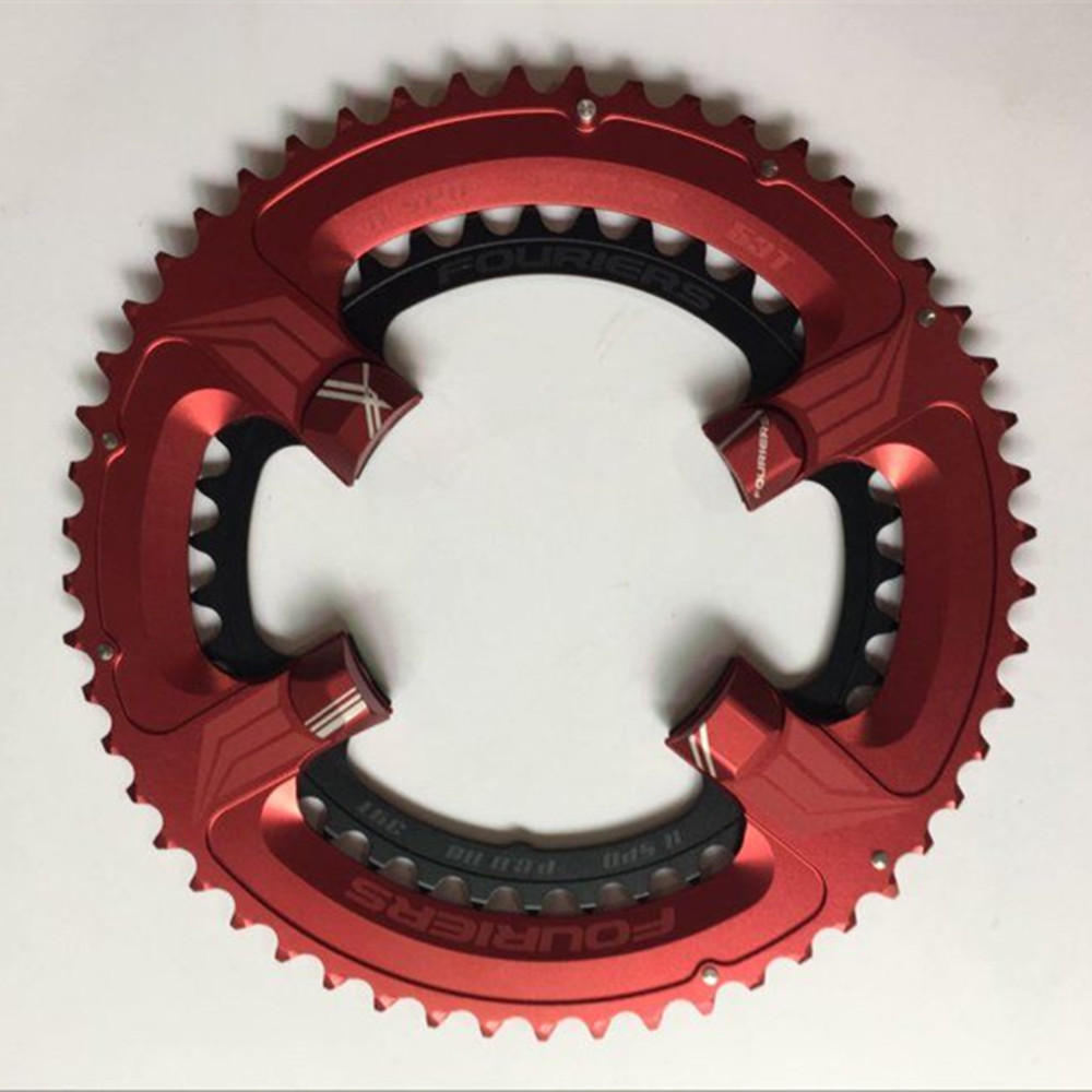 FOURIERS Road Bicycle Chainwheel 110BCD 50-34T/52-36T/53-39T Alloy Chain Wheel for Road Bike UTG 6800 fouriers road chain ring cr e1 dx5800 110 bcd chainring chainwheel gear road bicycle chain ring